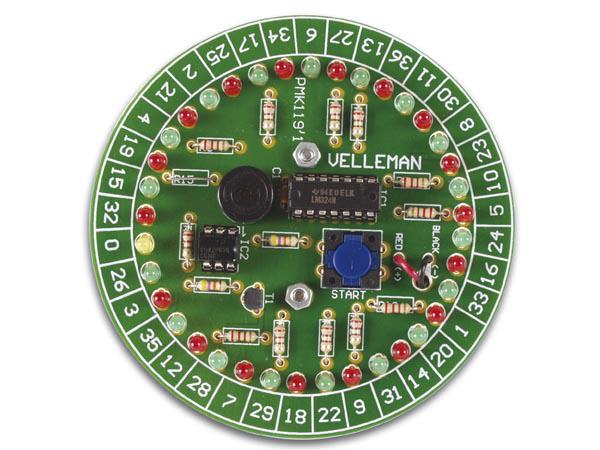 Velleman Mk119 Rulett Elektronikk Byggesett Roulette